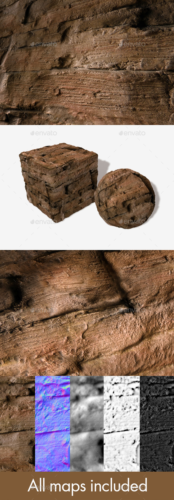 Muddy Cavern Wall Seamless Texture - 3DOcean Item for Sale