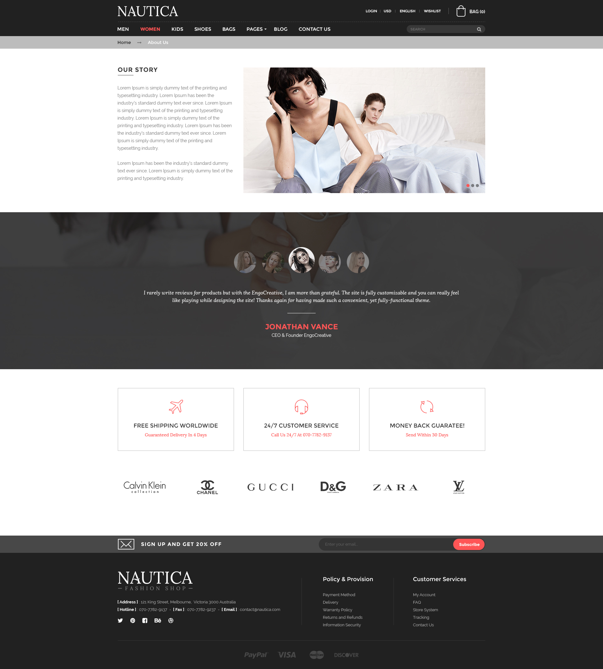 Nautica - Fashion eCommerce PSD Template by EngoCreative | ThemeForest