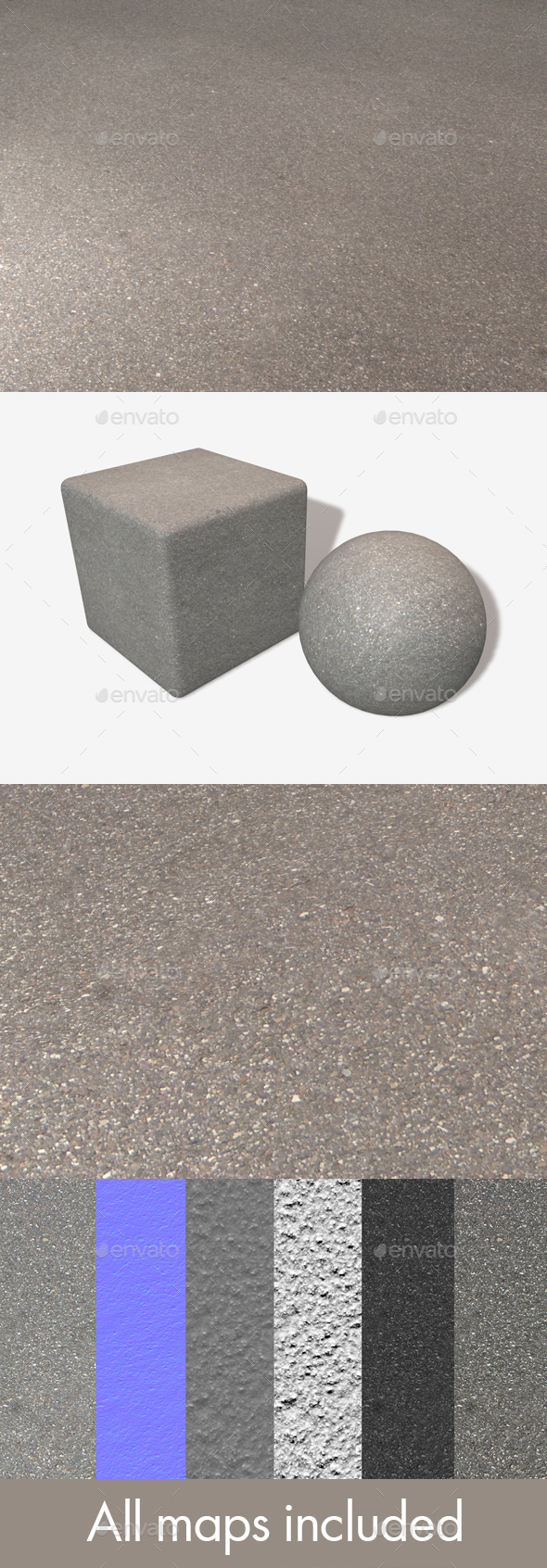 High Angle Asphalt Seamless Texture - 3DOcean Item for Sale