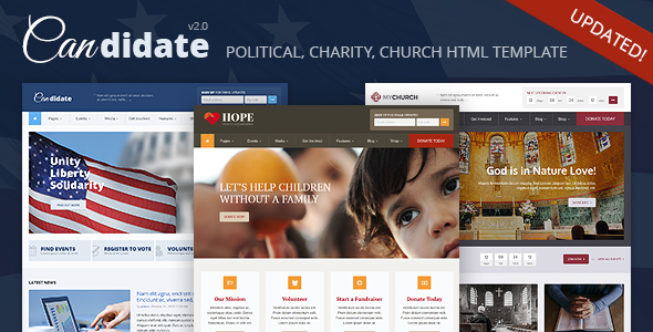 Candidate - Political/Nonprofit/Church HTML Theme