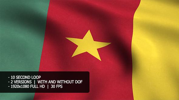 Kamerun Flag Tausta - Taustat Motion Graphics
