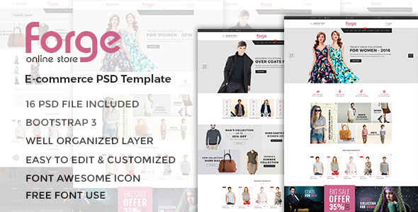 Forge - eCommerce PSD Template