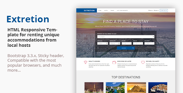 EXTRETION - Local Accommodations HTML Template