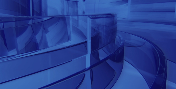 Stock Video - VideoHive Glass Bands Blue 191522