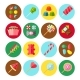 Sweet Candy Flat Isolated Icon Set