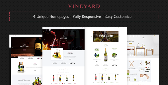 Vineyard - Wine Store and Blog Responsive WordPress Theme