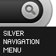Silver Navigation Menu - GraphicRiver Item for Sale