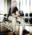 Gym Barbell Athletic Muscular Bodybuilding Sport Concept