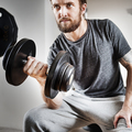 Athlete Attractive Gym Equipment Fitness Hobby Concept