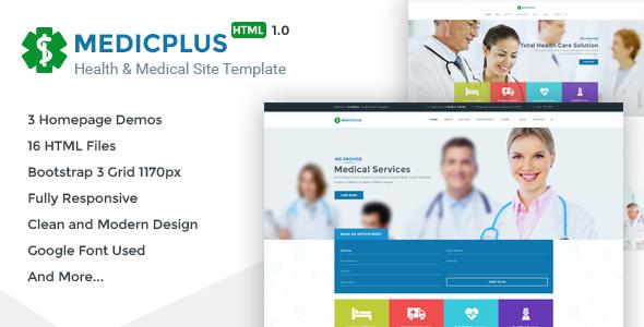 MedicPlus - Health & Medical HTML Template