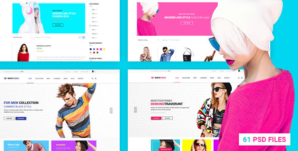 MateFash - Material Fashion Shop PSD Template