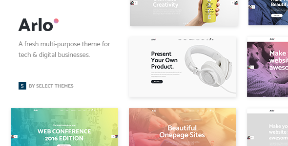 Arlo - A Fresh Theme for Tech & Digital Businesses