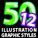50 Illustrator Graphic Styles Vol.12