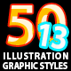 50 Illustrator Graphic Styles Vol.13