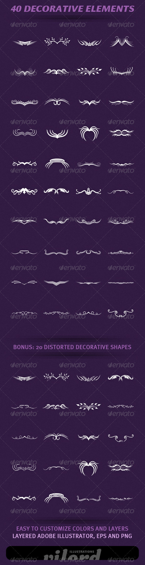 40 Decorative Elements