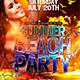 Summer Beach Party Flyer Template 2