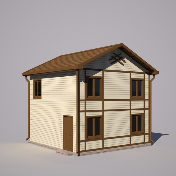 Two-storey house - 3DOcean Item for Sale