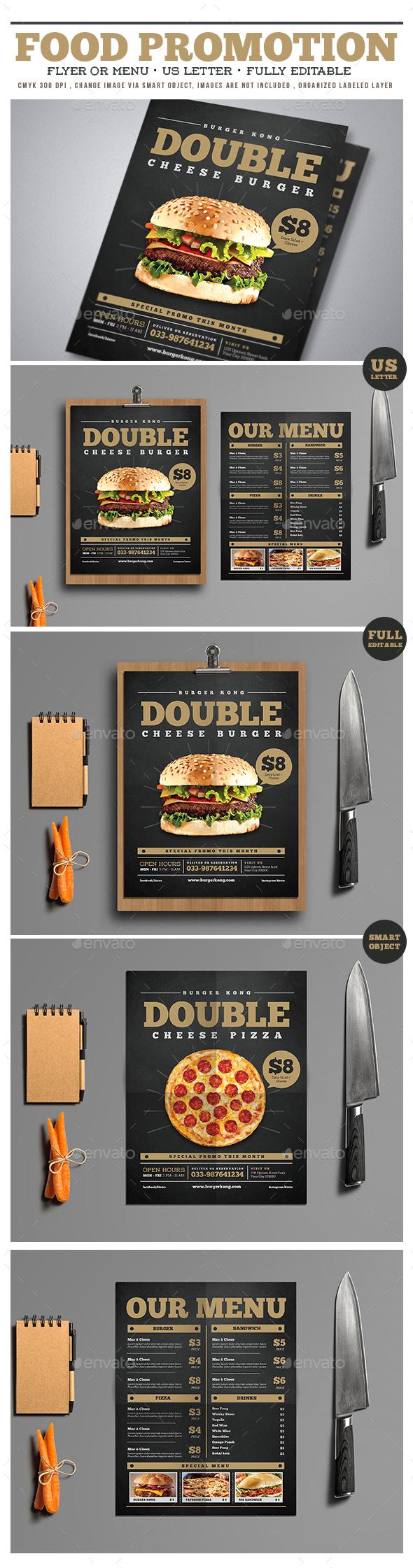 Food Promotion Flyer/Menu