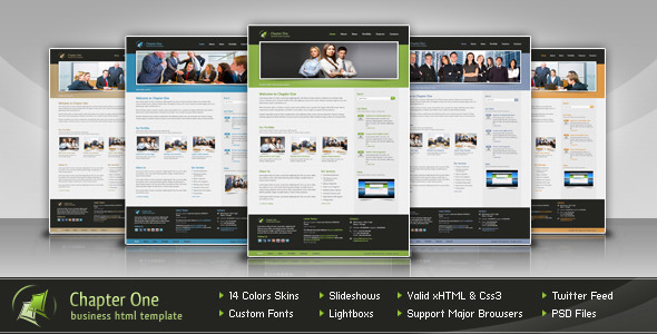 ThemeForest Chapter One Business HTML Template 1434477