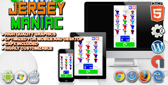 Download Jersey Maniac - HTML5 Construct Quiz Game nulled download