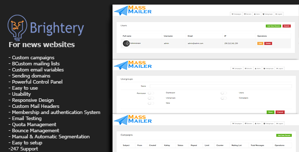 Download Brightery Mass Mailer nulled download