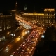 Night Intensive Traffic  - Moscow, Garden Ring Road