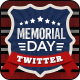 Memorial Day Twitter Headers - 4 Designs - Images Included