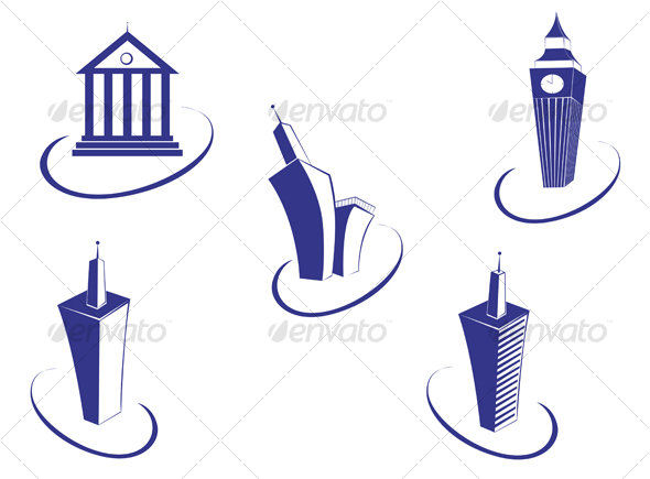 Buildings symbols - Buildings Objects