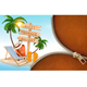 Summer Vacation Background With A Zipper. Vector.