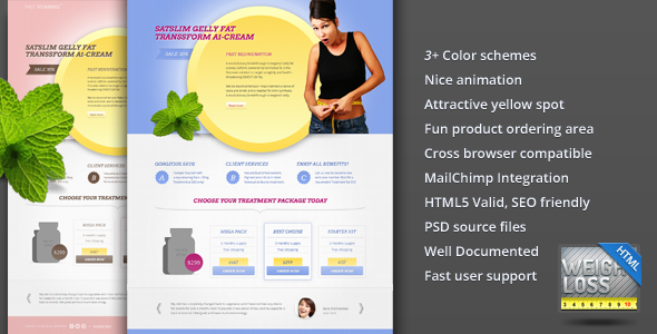 ThemeForest FAST E Vitamins Weight Loss Landing Page 1628312