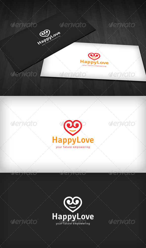 Happy Love Logo - Symbols Logo Templates