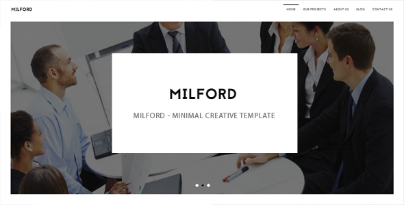 Milford - minimal creative template