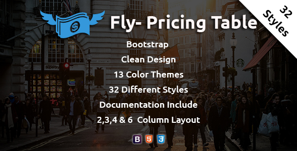 Download Fly - Pricing Table