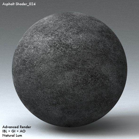 Asphalt Shader_024 - 3DOcean Item for Sale