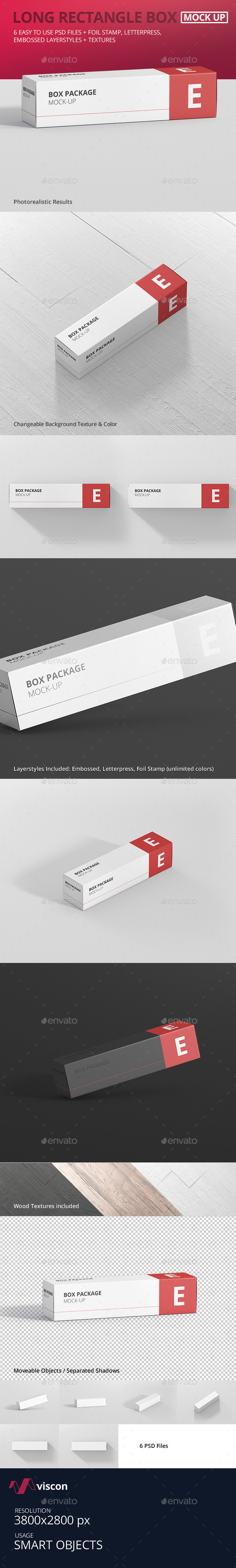 Package Box Mock-Up - Long Rectangle