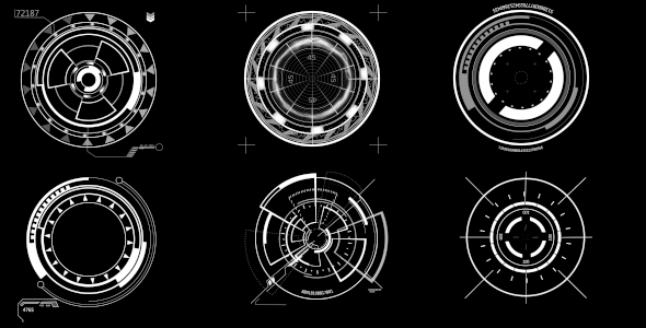 HUD Circle Elements - Teknologia Interface Effects Motion Graphics