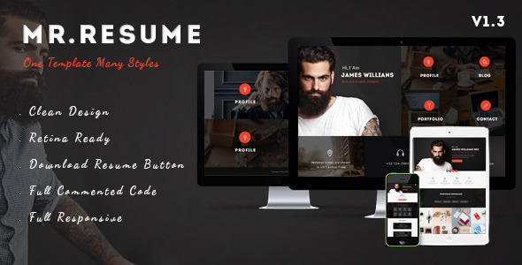 Morgan - Resume, vCard, Personal, Profile and Portfolio WP Theme
