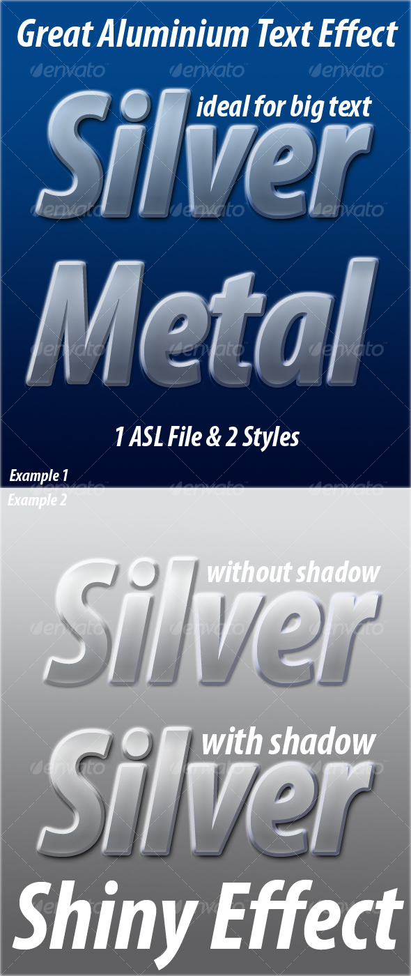 GraphicRiver Silver Blue Great Aluminium Text Effect Style 61662