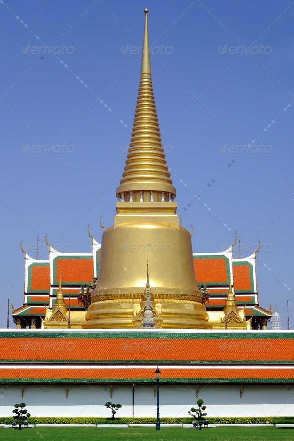 Wat Phra Kaeo at grand palace, thailand. - Stock Photo - Images