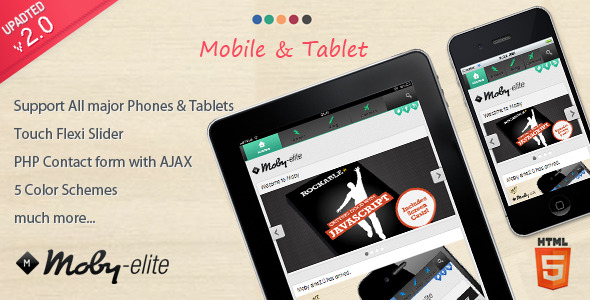 Moby elite - Mobile Template