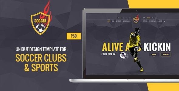 Soccer Acumen - Soccer and Football Club PSD Template