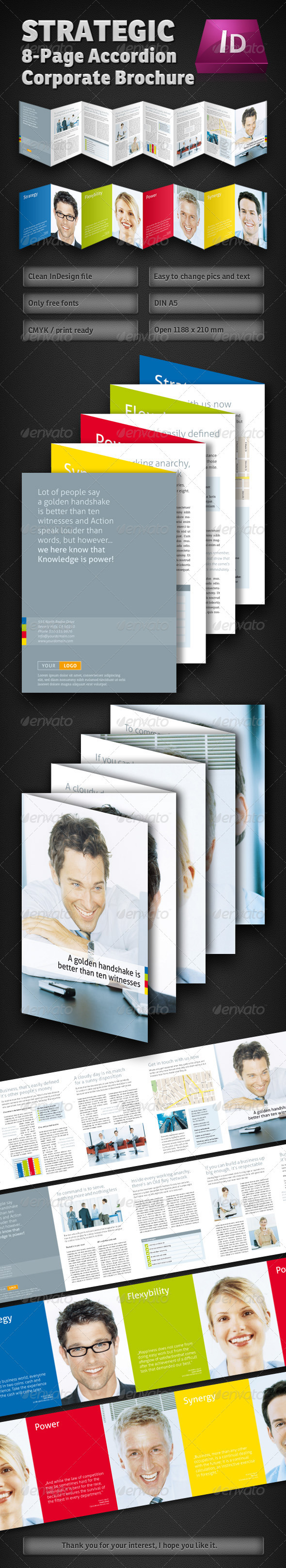 Strategic 8-Page Accordion Fold Brochure - Clubs & Parties Events