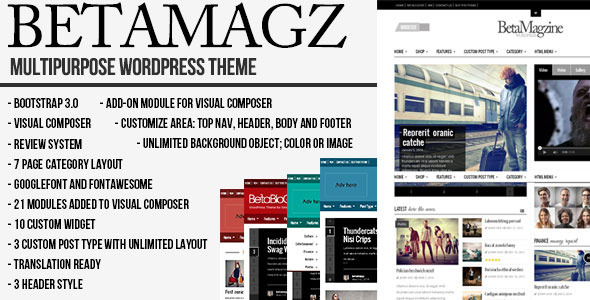 Betamagz - Multipurpose Theme For WP Magazine