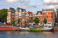 Typical view of Amsterdam, Netherlands.