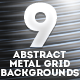 9 Abstract Metal Grid Backgrounds