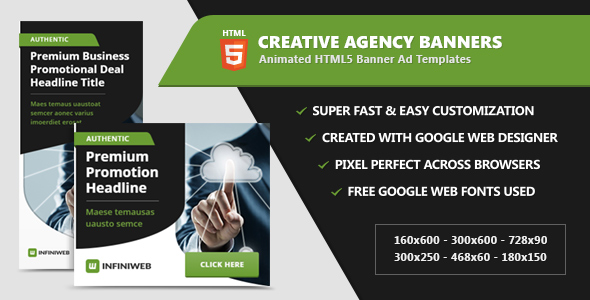 Creative Agency Banner Ads - HTML5 Animation