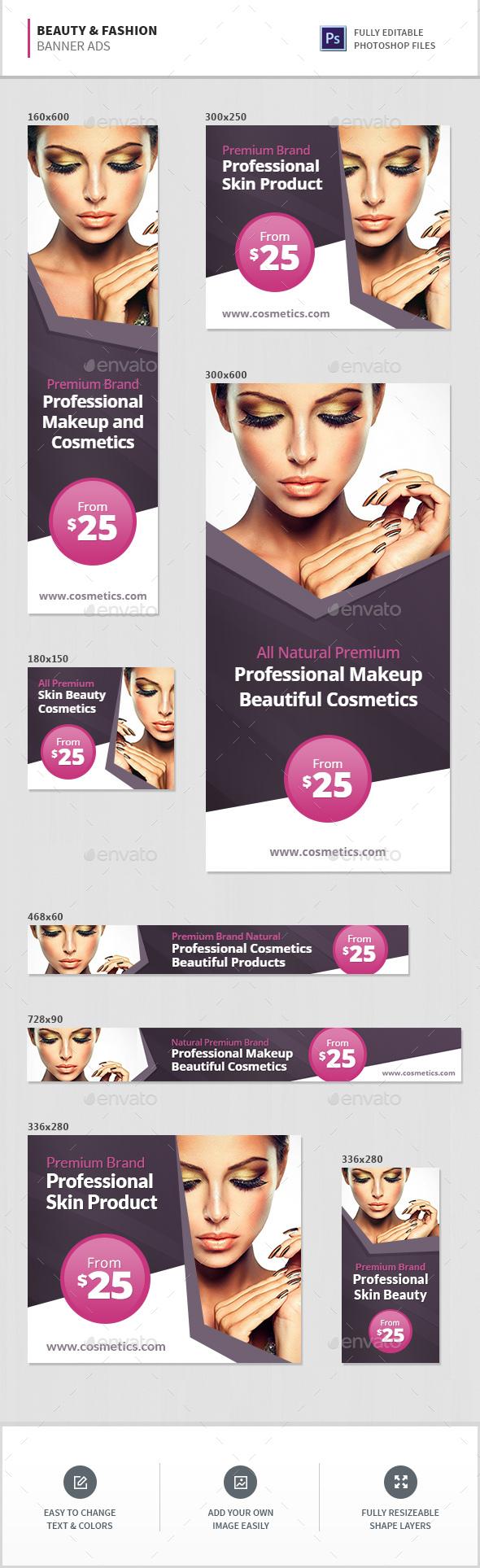 Beauty & Fashion Banner Ads