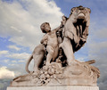 Paris, France, Alexander III Bridge statue - PhotoDune Item for Sale