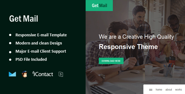 Get Mail - Responsive E-mail Template + Online Access