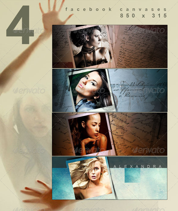 GraphicRiver 4 Facebook Covers in 850x315 1630538